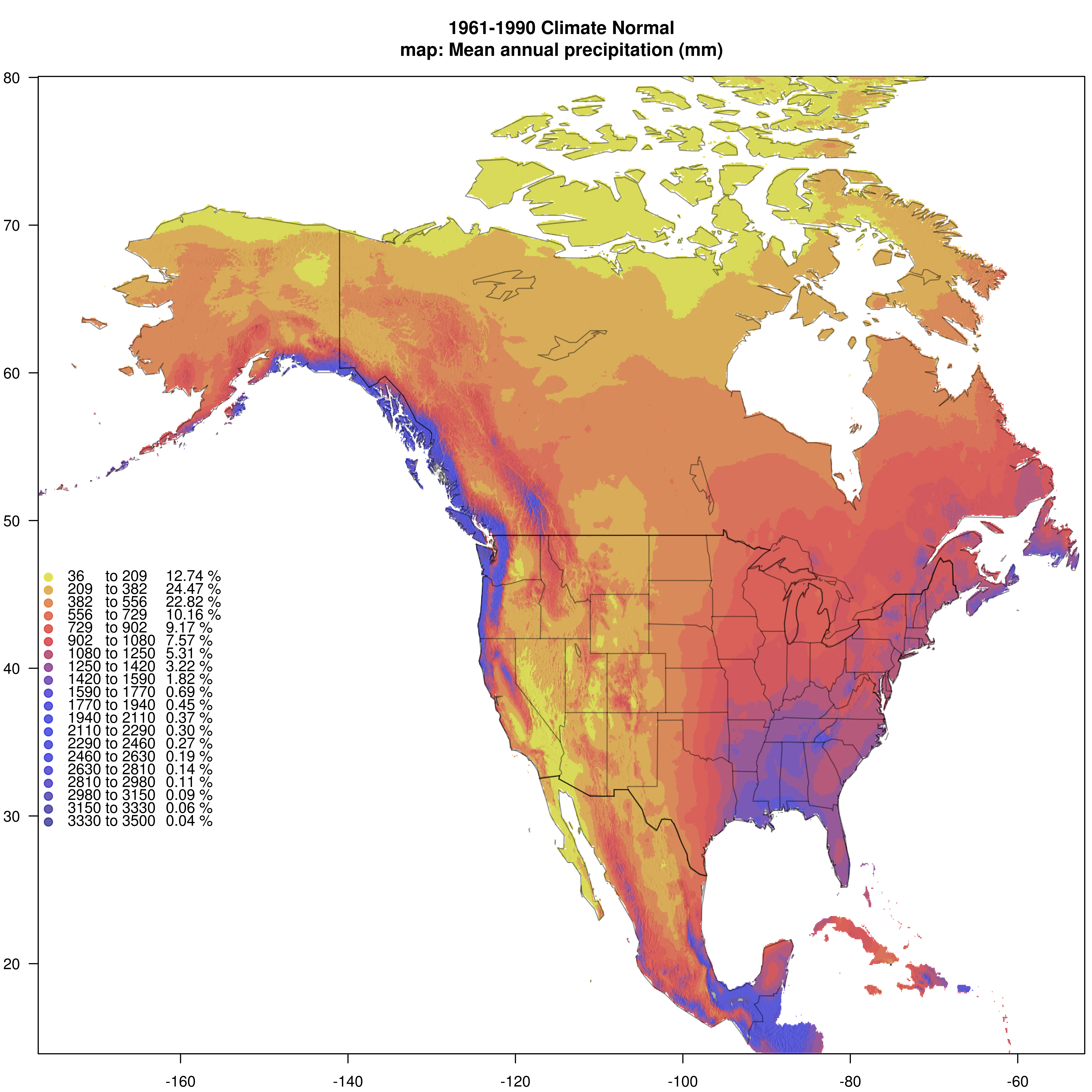 Current Climate Data for Western North America Western United States All of